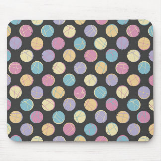 Chic retro Black colorful dots femenine mousepad |