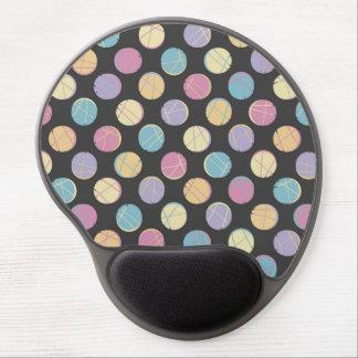 Chic retro Black colorful dots femenine mousepad | Gel Mouse Pad