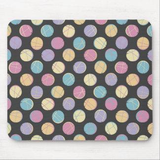 Chic retro Black colorful dots femenine mousepad  