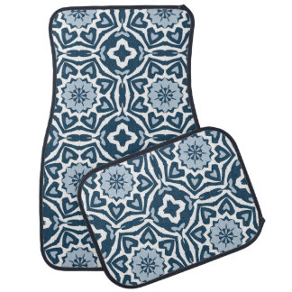 Chic Retro Dutch Delfts Blue Mosaic Pattern Car Mat