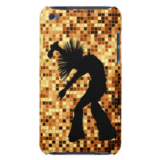Chic Retro Singer Dancer Gold Mirror Tiles iPod Touch Cases