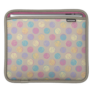 Chic retro vintage beige colorful dots ipad marrie