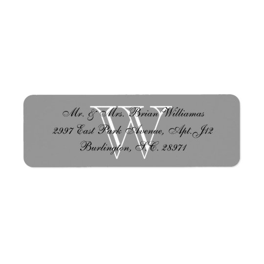 CHIC-RETURN ADDRESS LABEL_GRAY/BLACK/WHITE