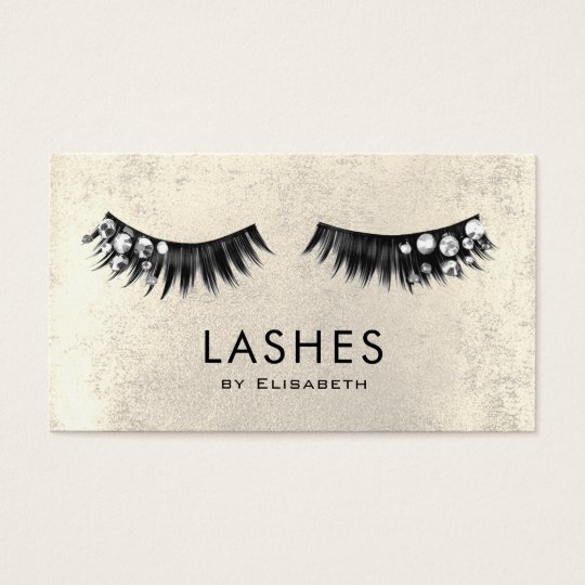 chic rhinestone fake lashes on faux gold foil