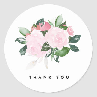 Chic Romance | Thank You Labels Round Sticker