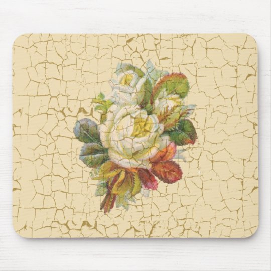 Chic Rose Flowers Mouse Mat