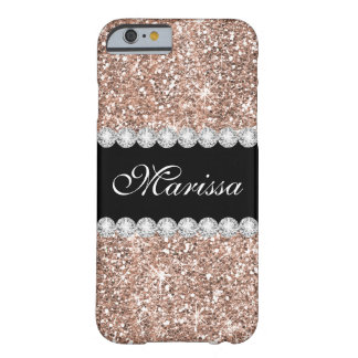 Chic Rose Gold Glitter Case-Mate iPhone 6/6s Case