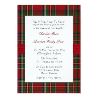 Chic Royal Stewart Plaid Wedding Invitation