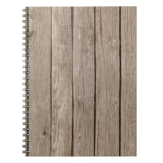 Chic Rustic Faux Wood Notebook