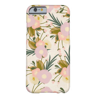 Chic Rustic Watercolor Retro Floral Lilac & Peach Barely There iPhone 6 Case