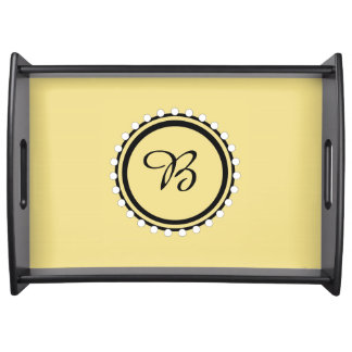 CHIC SERVING TRAY_09 YELLOW/BLACK/WHITE DESIGN SERVING TRAY