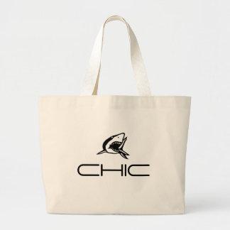 CHIC - Shark Motif Jumbo Tote Bag