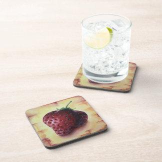 Chic Sheek Yellow Strawberry Coaster