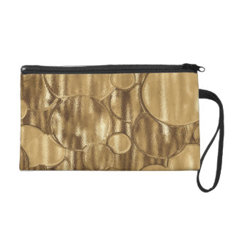 Chic Shiny Gold Wristlet
