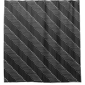CHIC SHOWER CURTAIN_MODERN GREY/WHITE/BLACK ZIGZAG SHOWER CURTAIN
