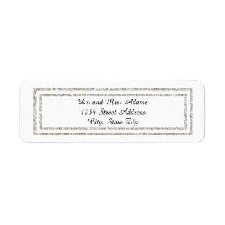 Chic Silver Glitter Trim - Address Label