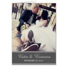 CHIC SILVER GRATITUDE | FOLDED WEDDING THANK YOU CARD