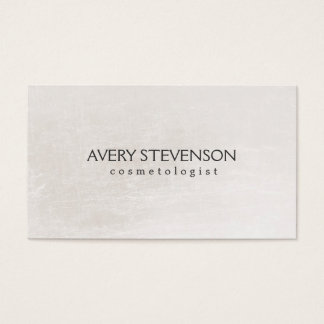 Chic Simple Blush Neutral Shimmer Look Cosmetology Business Card