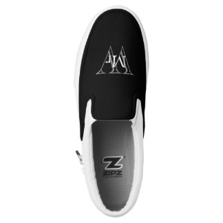 "CHIC SLIP-ON ZIPZ_""Mr"" OVER MONOGRAM Printed Shoes"