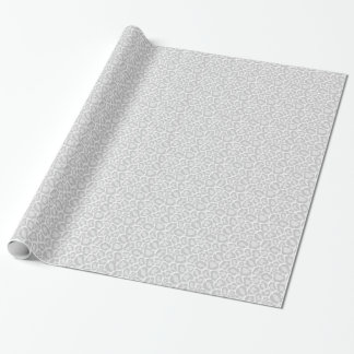 Chic Snow Leopard Print Wrapping Paper