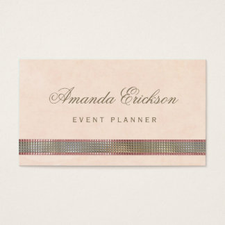 Chic Soft Peach FAUX Sequin Shimmer Event Planner