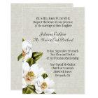 Chic Southern Belle Magnolias Wedding Invitation