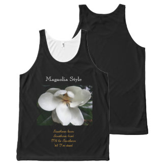 CHIC  SOUTHERN MAGNOLIA STYLE_ FLORAL All-Over PRINT TANK TOP