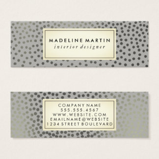 Chic Speckled Pattern Mini Business Card