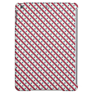 Chic striped american Labor Day Pattern with Stars