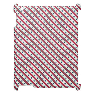 Chic striped american Labor Day Pattern with Stars Cover For The iPad