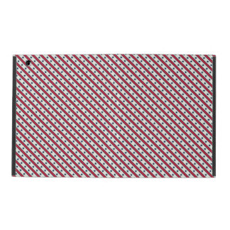 Chic striped american Labor Day Pattern with Stars iPad Case