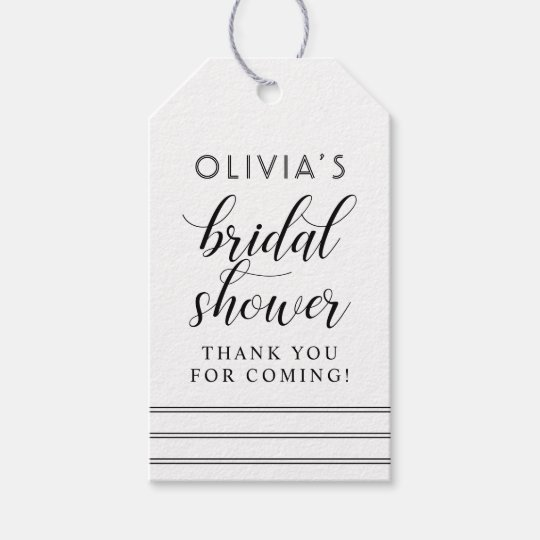 Chic Stripes | Black and White Bridal Shower Gift Tags