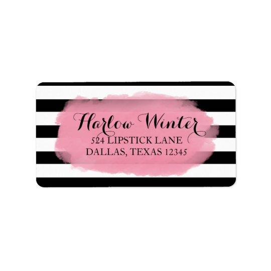 Chic Stripes | Black White Pink Label