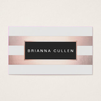 Chic Stripes FAUX Gold Foil Appointment Reminder