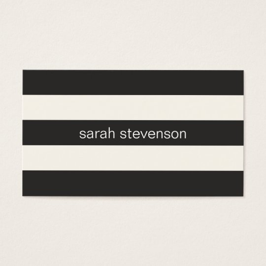 Chic Stylish Black and Cream Striped Modern Business