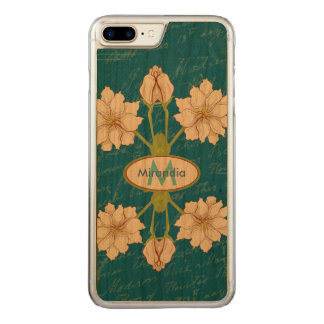 Chic stylish floral carved iPhone 8 plus/7 plus case