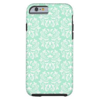 Chic stylish ornate mint green damask pattern tough iPhone 6 case