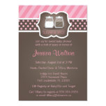 Chic Sugar and Spice Baby Shower Invitations