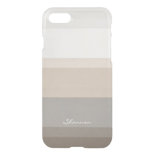 Chic Taupe, Cream and Grey striped iPhone 7