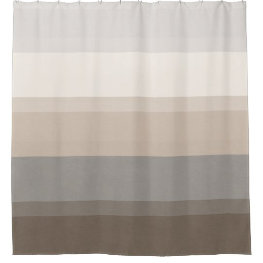 Chic Taupe, Cream and Grey striped shower curtain