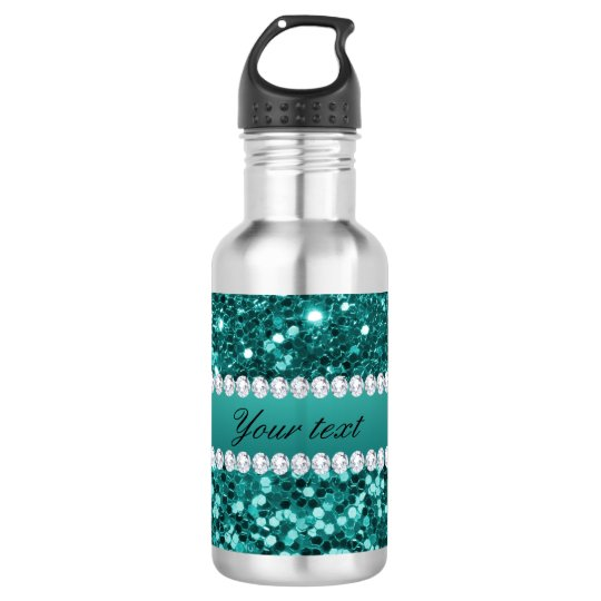 Chic Teal Faux Glitter and Diamonds 532 Ml