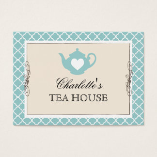 Chic Teal Teapot Tea Business Card