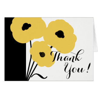 CHIC THANK YOU NOTE_MO0 YELLOW POPPIES CARD