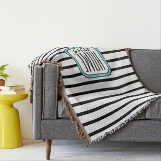 CHIC THROW_HOME ZIPCODE STRIPES
