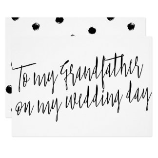 "Chic ""To my grandfather on my wedding day"" 13 Cm X 18 Cm Invitation Card"
