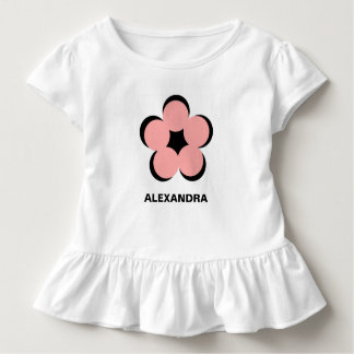 CHIC TODDLER DRESS_RUFFLES AND PINK FLORAL/ NAME TODDLER T-Shirt