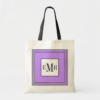CHIC TOTE_WHITE DOTS ON 191 LILAC TOTE BAG