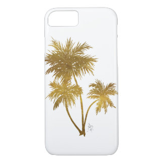 Chic Trendy Gold Palm Trees Design for Phone Cases