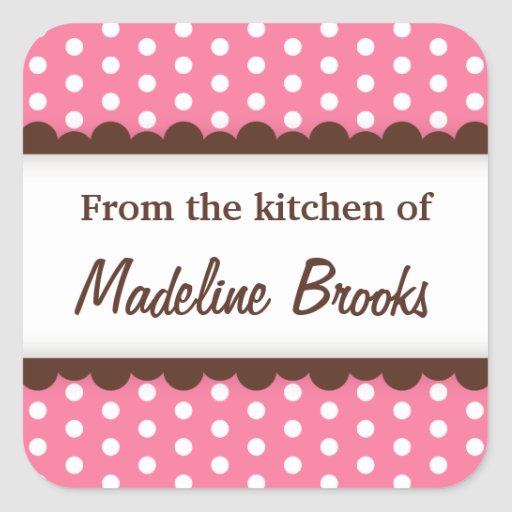 Chic trendy pink polka dots from the kitchen of sticker