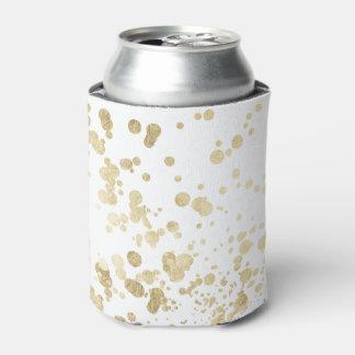 Chic trendy white faux gold elegant confetti dots